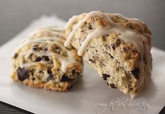 Double chocolate chunk scones