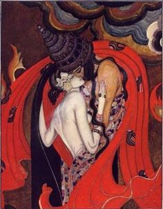 The Lovers Perish in the Fire   by Kay Nielsen