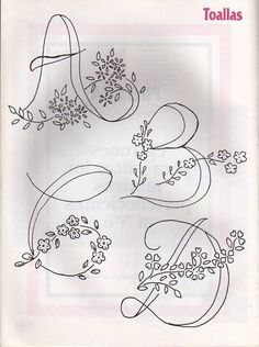 Most current Free Embroidery Patterns alphabet Concepts You have acquired many the primary associated with stitches, considered online regular sewing instructional c Embroidery Alphabet, Embroidery Monogram, Silk Ribbon Embroidery, Hand Embroidery Patterns, Embroidery Art, Cross Stitch Embroidery, Needlework, Sewing, Fonts