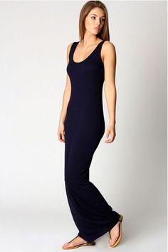 vestido regata longo preto - Pesquisa Google