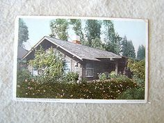 """A TYPICAL CALIFORNIA BUNGALOW. - EARLY 1900'S POST CARD - """"PHOSTINT"""" CARD"""