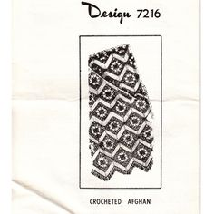 Mail Order Design Pattern 7216 for a crocheted afghan.  This throw is a piece of fun, not only featuring a flowery granny square, but a ripple wave as well !  Vintage Knit Crochet Pattern Shop