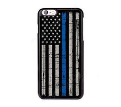Thin Blue Line Flag Cover,Case for iPhone,iPod,Samsung,Sony,Police wife,Officer