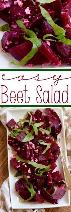 This Easy Beet Salad only has THREE ingredients and is such a light and perfect summer side dish!
