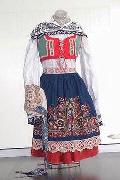 antique vintage czech folk dress costume moravia kyjov ethnic eastern european