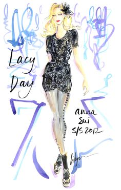 Lacy Day! Jennifer Lilya Fashion Illustration
