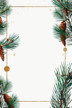 Golden rectangle Christmas frame design premium image by PLOYPLOY Christmas Frames, Noel Christmas, Christmas Gift Tags, Christmas Countdown, Christmas Design, Christmas Background, Christmas Wallpaper, Illustration Noel, Illustrations
