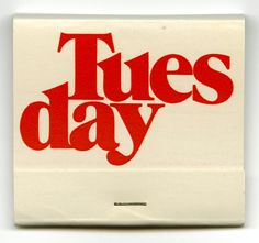 Weekday matchbooks - Fonts In Use