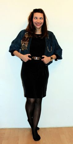 New - Year - Oufit: PEACE Gürtel, Vintage Jacket, Silvester Silvester Outfit, Vintage Jacket, Cold Shoulder Dress, Outfits, Black, Dresses, Fashion, Vestidos, Moda