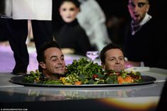 Bringing the laughs: Ant and Dec - Anthony McPartlin and Declan Donnelly - had the audience in stitches with their antics