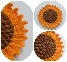 The Lazy Hobbyhopper: Sunflower potholder - free pattern