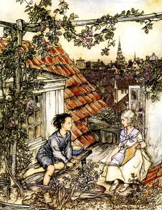 The Snow Queen - Fairy Tales by Hans Andersen, 1932 Illustrations by Arthur Rackham