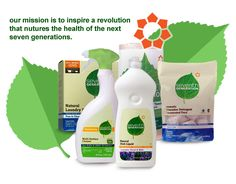 Seventh Generation - cleaning and household goods that are effective and environmentally friendly.