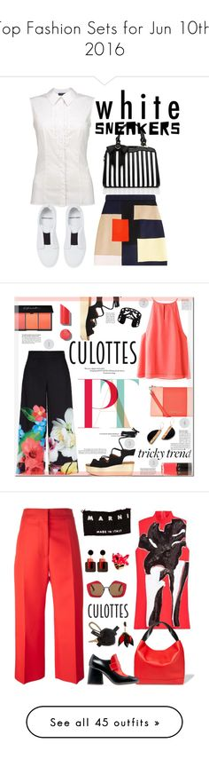 """""""Top Fashion Sets for Jun 10th, 2016"""" by polyvore ❤ liked on Polyvore featuring Pierre Hardy, MSGM, Ted Baker, Armani Jeans, See by Chloé, LVX, Lisa August, Chanel, TrickyTrend and culottes"""
