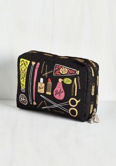 The Cosmetic Connection Makeup Bag. You'll have an extra adorable perspective of your blushes and brushes when theyre stored in this pretty, printed bag designed as a collaboration between LeSportsac and Rifle Paper Co.! #multi #modcloth