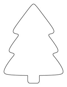 Simple Christmas Tree Pattern - #DRAW #ZENTANGLE #ZENDALA #TANGLE #DOODLE #TEMPLATE #VORLAGEN