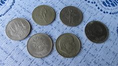 Set of 6 Vintage USSR Soviet Russian metal coin by rulentus