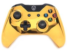 """""""Gold"""" Xbox One Custom UN-MODDED Controller Exclusive Design ModdedZone introducing Custom XBOX ONE Controller with amazing design, custom mixed paints and Playstation, Ps4, Nintendo Ds, Nintendo Switch, Custom Xbox One Controller, Xbox Controller, Video Games Xbox, Xbox One Games, Wii U"""