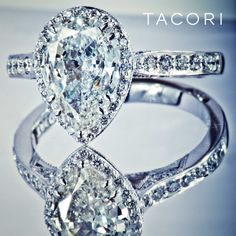 Perhaps the most beautiful pear-shaped diamond engagement ring ever