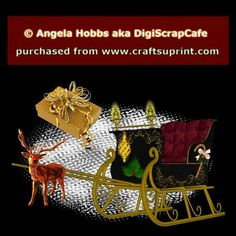 Christmas Sleigh Template by Angela Hobbs Here is a fabulous Christmas Sleigh for you to color, and embellish in many ways. You will receive 25 plus layers, pngs, and embellishments to use with your imagination, including gift packages, and Rudolph, not shown.  Sleigh is sized to about 900 x 550, images in 300 DPI.  You may resell your creations as PU, CU, and S4H.   Zip contains PSD, and png images, in both colored and grey scale for you to color yourself. Be sure to read the full TOU in…