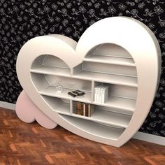 Discover our collection of heart shaped bookcases designed by Roberto Corazza. Unique and elegant, this bookcase is ideal for your collection of books and magazines. Unusual Furniture, Funky Furniture, Furniture Sale, Cheap Furniture, Discount Furniture, Custom Furniture, Furniture Plans, Luxury Furniture, Furniture Design