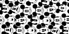 b&w cartoon mickey mouse