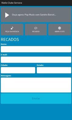 Rádio Clube Serrana: captura de tela