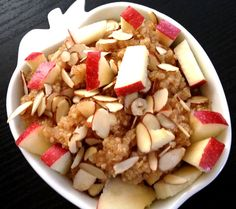 METABOLISM BOOSTING Apple Cinnamon Breakfast Quinoa. It tastes like apple pie, and is a delicious and healthy way to start your day.