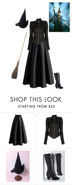 """Elphaba"" by my-gothic-valentine ❤ liked on Polyvore featuring Chicwish, Gareth Pugh and But Another Innocent Tale"