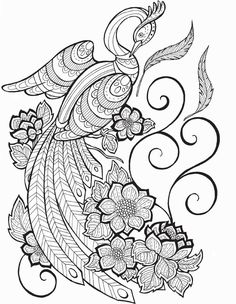 9782815307062 Durchwahl – Coloring pages for adults – Free Printables - Malvorlagen Mandala Adult Coloring Pages, Bird Coloring Pages, Printable Coloring Pages, Coloring Books, Peacock Drawing, Art Quilling, Princess Coloring, Art Nouveau Design, Pattern Illustration