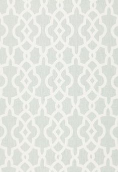 174593 Summer Palace Fret Mineral by Schumacher Fabric Of Wallpaper, Pattern Wallpaper, Textures Patterns, Print Patterns, Pattern Designs, White Trellis, Custom Roman Shades, Geometric Fabric, Geometric Patterns