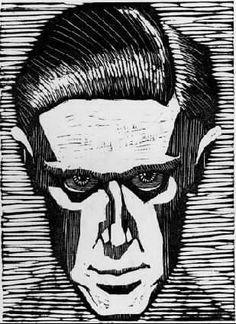 Self Portrait by M.C Escher Woodcut 131mm x 175mm (1919)