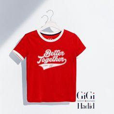 Tommy Hilfiger Cotton Printed T-shirt Gigi Hadid - apple red (Red) - Tommy Hilfiger T-Shirts - main image