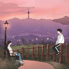 Manga is simply the Japanese version of comic books or graphic novels. Cute Couple Drawings, Cute Couple Art, Anime Love Couple, Anime Couples Drawings, Cute Anime Couples, Cute Drawings, Romantic Anime Couples, Cute Couple Wallpaper, Anime Scenery Wallpaper
