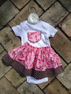 Baby Girl Easter Skirt and Shirt Newborn 3 months 6 by ThisChild, $24.99