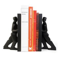 The Men Pushing Bookends are a great gift for those fathers who love to read. Perfect for both home or the office.