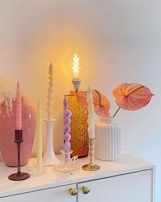 candles #selbermachendeko Pastel Room, Pastel House, Cute Candles, Best Candles, Minimalist Candles, Aesthetic Room Decor, Room Ideas Bedroom, Fashion Room, Cool Rooms