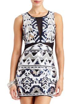 2b | Katrina Aztec Sequin Dress - Clothing