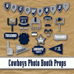 Cowboys Football Photo Booth Props and Party by OldMarketCorner