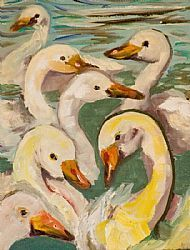 On the seventh day of Christmas, my true love gave to me, seven swans a swimming...