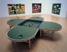 Gabriel Orozco - Mesa de Ping Pong con estanque 1998