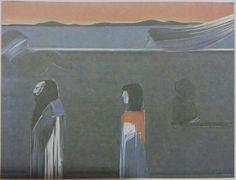 Mustafa Ata: Kompozisyon. Tuval uzerine yagliboya. 100×130 cm. Ozel koleksiyon