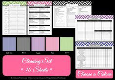 Colour Chart from the cleaning set. Available in 5 different colours from: https://www.etsy.com/listing/127573617/cleaning-printables-household-binder?ref=shop_home_active