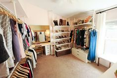 my next house will have 4 bedrooms... and 1 will be dedicated just to my clothing.