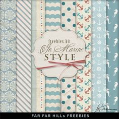 New Freebies Kit - In a Marine Style:Far Far Hill - Free database of digital illustrations and papers Free Digital Scrapbooking, Digital Scrapbook Paper, Digital Paper Freebie, Scrapbook Pages, Digital Papers, Printable Paper, Free Printable, Planner, Paper Background