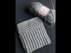 Boot Cuffs Alongado ponto tecido / Crochet boot cuffs woven stitch - YouTube