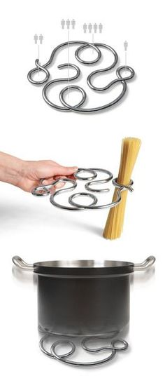 How do I not own this? A spaghetti measure and trivet. Tells you how much to make for 1, 2, 3, or 4 people. I ALWAYS make WAY to much pasta... | 17 Housewarming Gifts People Actually Want