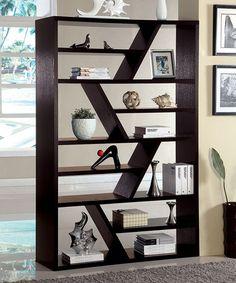 Furniture of America Emize Espresso Open Display Shelf from Overstock. Saved to Furniture/ Room Inspiration. Display Shelves, Wall Shelves, Wood Display, Display Case, Storage Shelves, Media Storage, Wooden Shelves, Modern Furniture