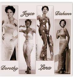 Black women of classic Hollywood: Dorothy Dandridge, Joyce Bryant, Lena Horne, and Diahann Carroll Dorothy Dandridge, Vintage Black Glamour, Vintage Vogue, Vintage Beauty, Black Girls Rock, Black Girl Magic, Idda Van Munster, Diahann Carroll, Angela Davis
