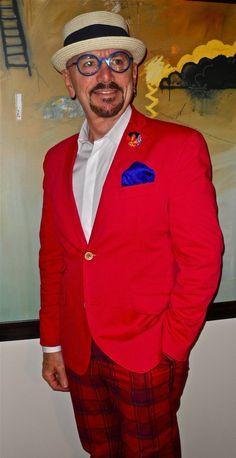Tallia blazer, Ben Sherman shirt, plaid cotton pants...TGIF